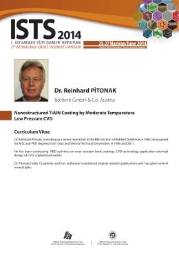 Dr. Reinhard PİTONAK
