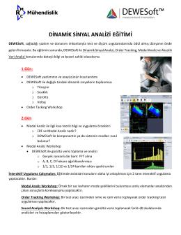 DEWESoft Dinamik Sinyal İşleme Eğitimi