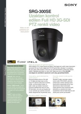 SRG-300SE Uzaktan kontrol edilen Full HD 3G-SDI PTZ