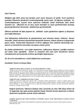 9. eylül 2014 bilgilendirme - Çanakkale Ticaret ve Sanayi Odası