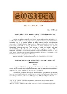 II. Meşrutiyet Dönemi Türk Romanında Millî Kimlik