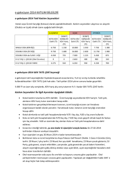 e-gekvizyon 2014 KATILIM BİLGİLERİ