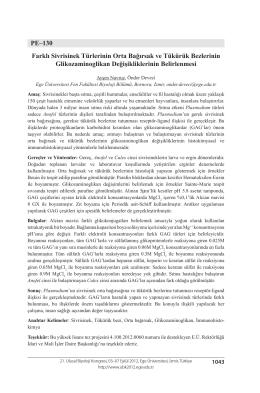 PE–130 Farklı Sivrisinek Türlerinin Orta Bağırsak ve Tükürük