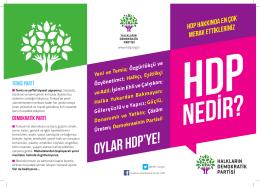 HDP nedir - Halkların Demokratik Partisi