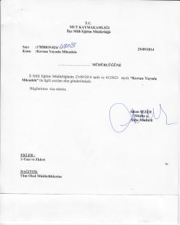 DAĞITIE - mut ilçe millî eğitim müdürlüğü