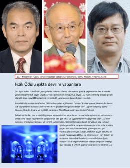 Fizik Ödülü ışıkta devrim yapanlara