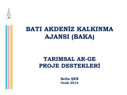 tarımsal ar-ge destekleri (ocak 2014)