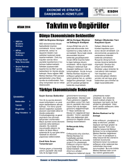 Nisan 2014 Takvim ve Öngörüler