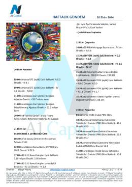 20-24 ekım haftalık gundem global