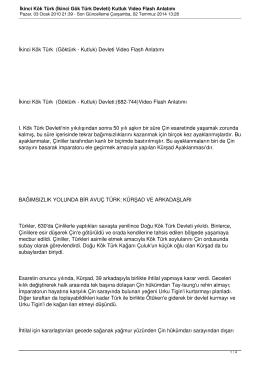İkinci Kök Türk (İkinci Gök Türk Devleti) Kutluk Video