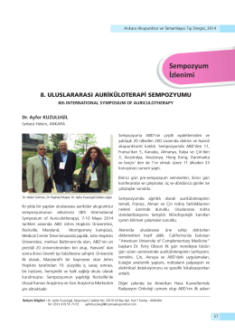Sempozyum İzlenimi - Ankara Akupunktur Derneği