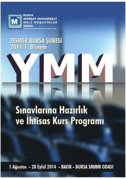 5 haziran 2014 - Bursa SMMM Odası