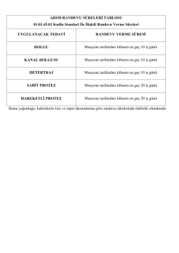 SKS Randevu Süreleri