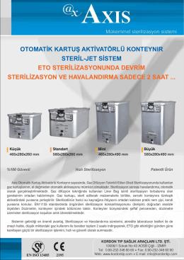 otomatik kartuş aktivatörlü konteynır steril