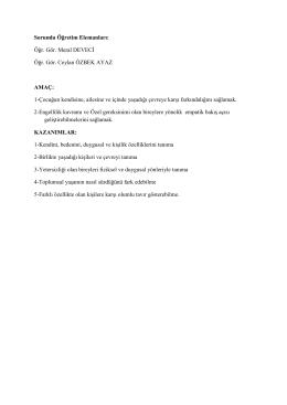 Sorumlu Öğretim Elemanları: Öğr. Gör. Meral DEVECİ - E