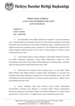 AHM Toplantı Tutanağı - Türkiye Barolar Birliği