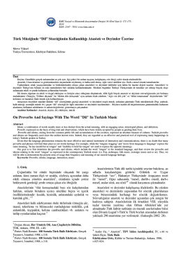 Merve YÜKSEL - KMÜ Sosyal ve Ekonomik Araştırmalar Dergisi