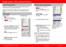 ISO-XML olmadan - TRACK-Leader için Kısa Kılavuz