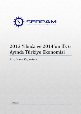 2103 Yılının ve 2014 İlk 6 Aynın Yorumlandığı Ekonomi Raporumuz