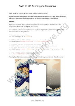 Swift ile iOS Animasyonu Oluşturma