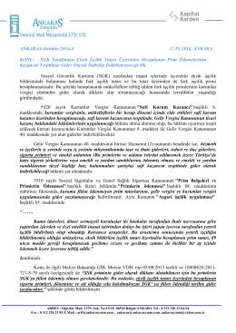 Sirküler 2014-4 SGK Fark İşçilik Primlerinin Gider Olarak Yazılması Hk