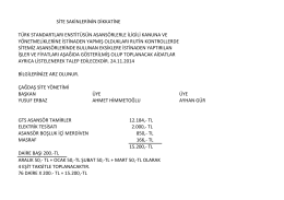 asansör için yapılanların toplanması 24.11.2014