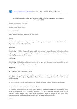 www.isvesosyalguvenlik.com • Mevzuat – Bilgi – Kültür