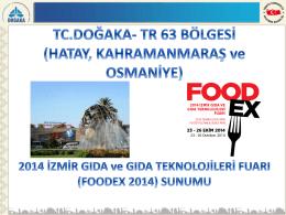 (Foodex 2014) Katılım Sunumu