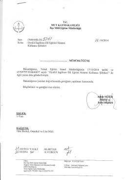 Koıru : - mut ilçe millî eğitim müdürlüğü