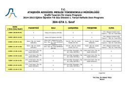 304-GTA 1. Sınıf - Ataşehir Adıgüzel Meslek Yüksekokulu