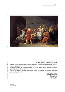 52 Sokrates ve Tartışma
