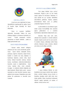Çocuk ve Oyun - TED İzmir Koleji