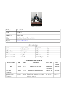 Yrd. Doç. Dr. Bülent Akot - Yıldırım Beyazıt Üniversitesi