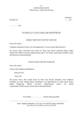 GMP_Sertifikası_Tip2_Türkçe