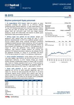 IS GYO - Yapı Kredi Yatırım