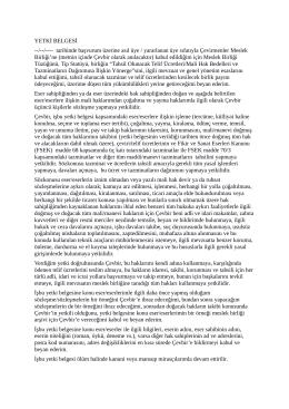Eser Temsil Yetki Belgesi - Çevirmenler Meslek Birliği