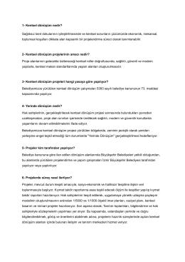 1- Kentsel dönüşüm nedir? - İzmir Büyükşehir Belediyesi