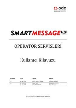 Operatör Servisleri hakkında detaylı bilgi almak ve kullanım
