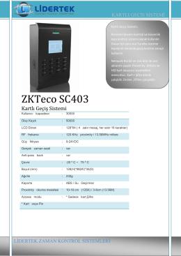 PDF Broşür İndir Sc403