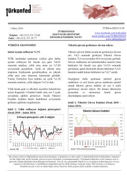 Haftalık Ekonomi Değerlendirme Raporu – 04.03.2014