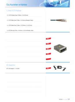 Güç Kaynakları ve Kablolar