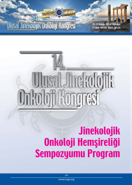 Jinekolojik Onkoloji Hemşireliği Sempozyumu Program