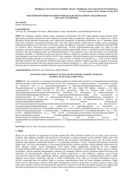 kütahya ili örneği - Dumlupınar Üniversitesi
