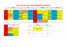 2014-2015 HSK Antrenman Programı