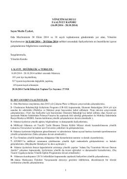 Ekim - Adana Ticaret Odası