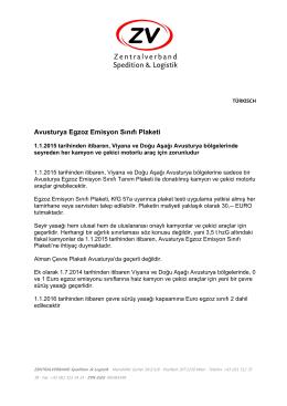 Avusturya Egzoz Emisyon Sınıfı Plaketi