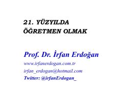 irfan erdoğan 21 yüzyılda öğretmen olmak