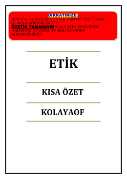 FİNANSAL TABLOLAR ANALİZİ