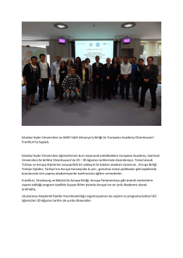 İstanbul Aydın Üniversitesi ve ASKO Vakfı Almanya İş Birliği ile