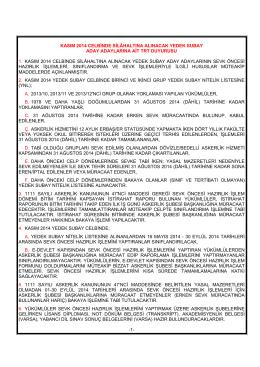 kasım 2014 trt duyurusu